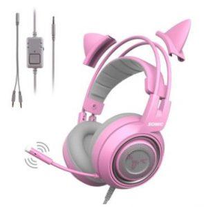 Headset Gaming Headband Penyesuaian Diri SOMIC