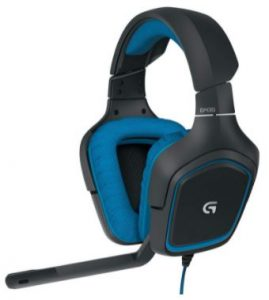 Logitech On-Cable Controls Gaming Headset